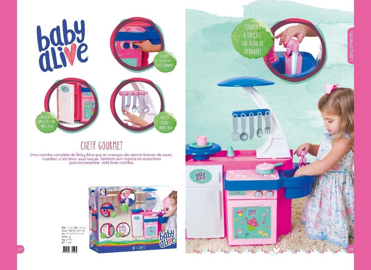 Cozinha Infantil Baby Alive C Geladeira Forninho Pia R 119 00 Em