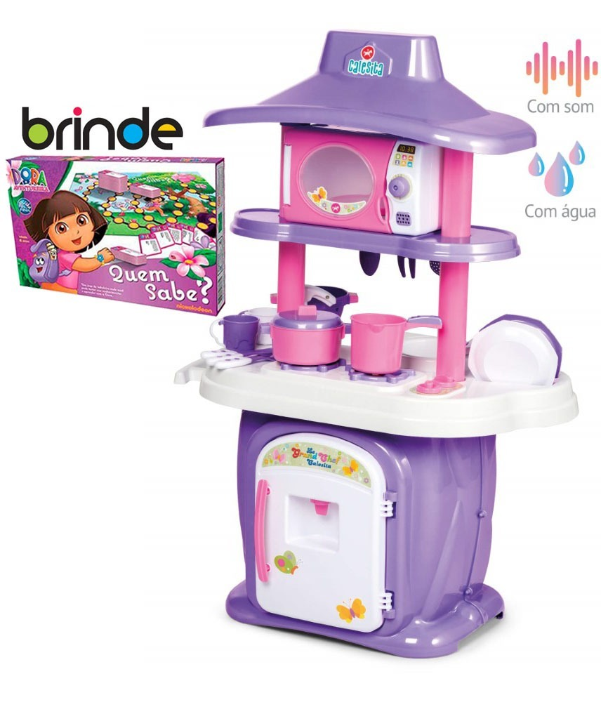 Cozinha Infantil Completa Som E Gua Le Grand Chef Brinde R 299