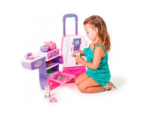cozinha infantil fogão geladeira pia mobility chef calesita