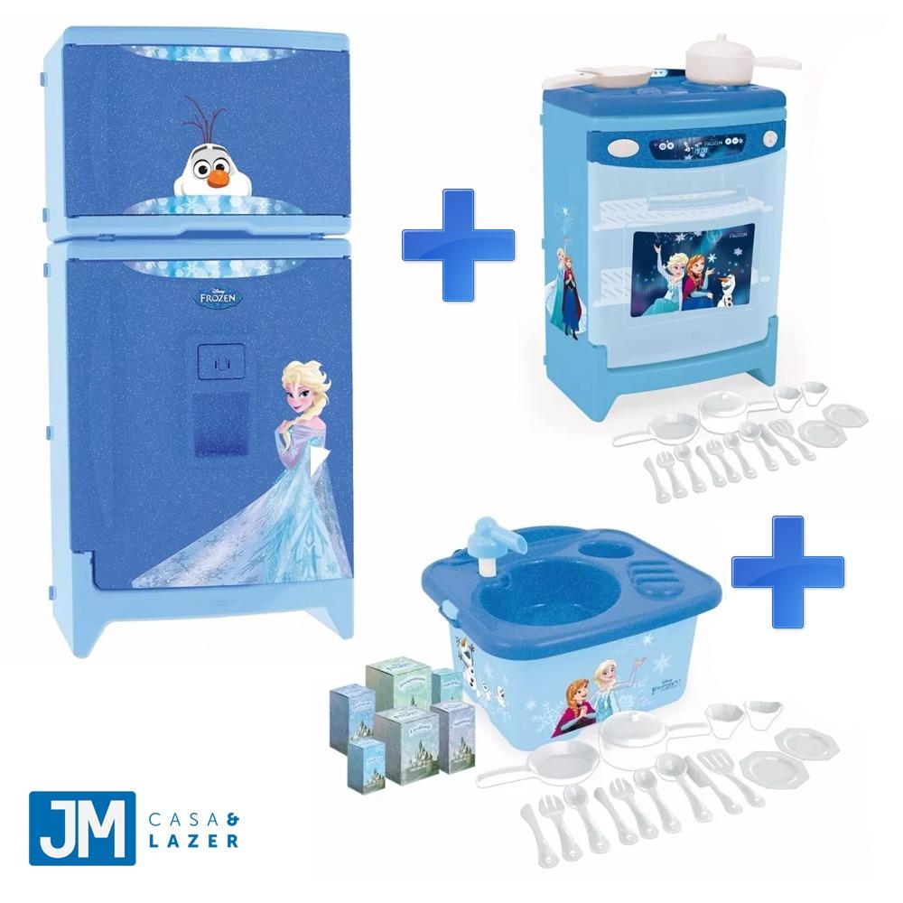 Cozinha Infantil Frozen 3 Pe As Geladeira Fog O Pia Xalingo R  ~ Mercado Livre Cozinha Infantil