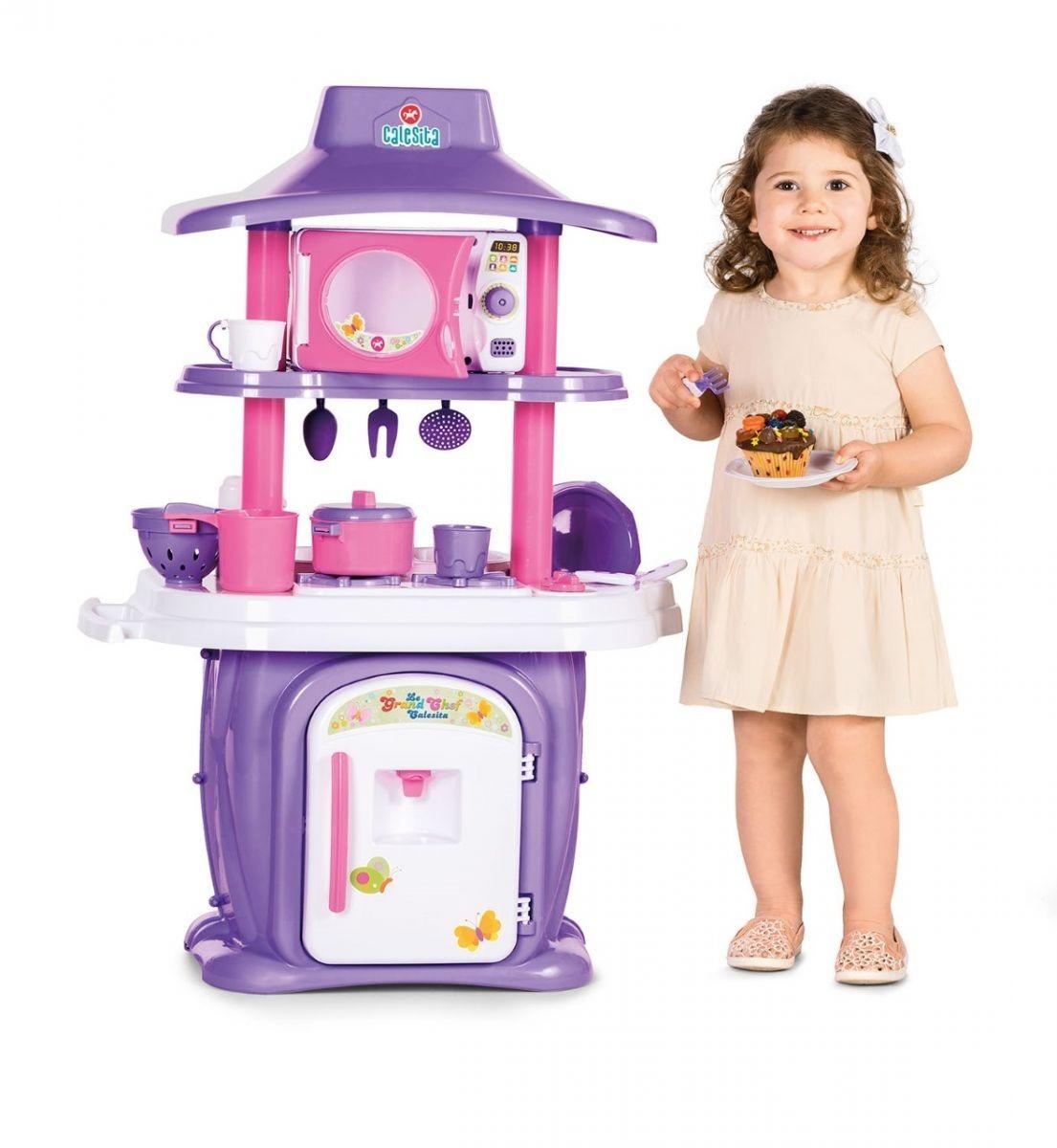 Cozinha Infantil Grande Chef Meninas Completa C Gua Frete R 394