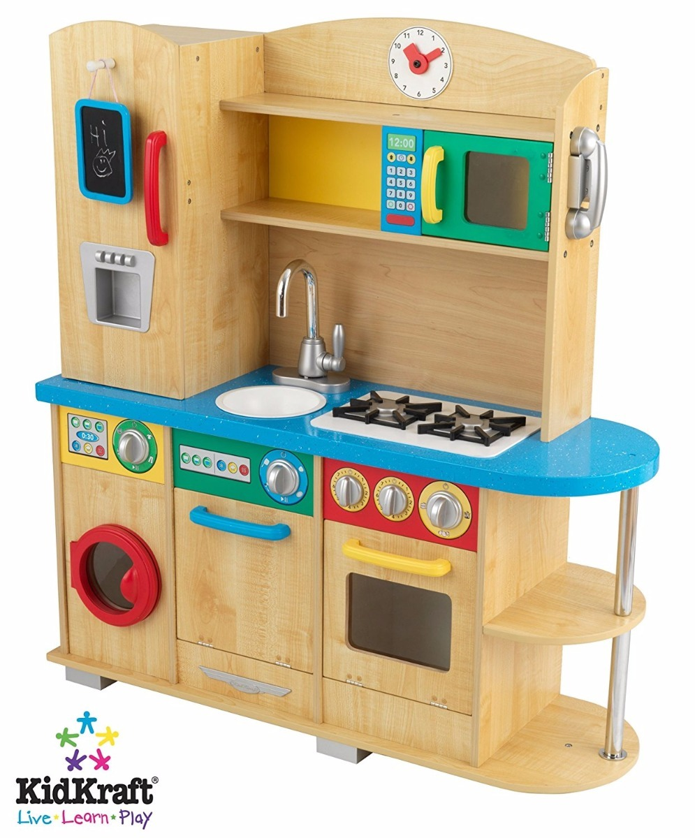 Cozinha Infantil Madeira Natural Kidkraft Cook Together
