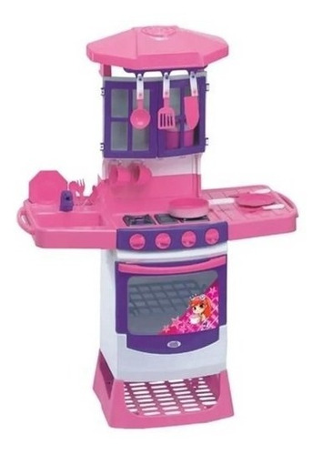 cozinha infantil mágica menina fogão magic toys oferta louli
