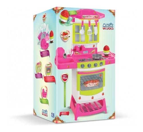 cozinha infantil moranguita som e acessorios magic toys