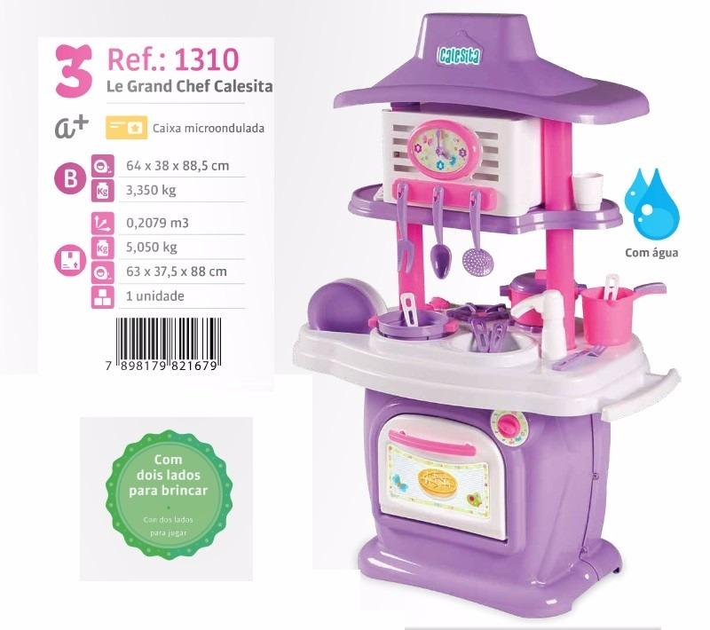 Cozinha Infantil Pia C Agua Som Le Grand Chef Calesita 1310 R