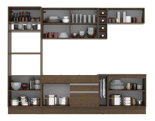 cozinha madesa vicenza c armário e balcão (sem tampo e pia)