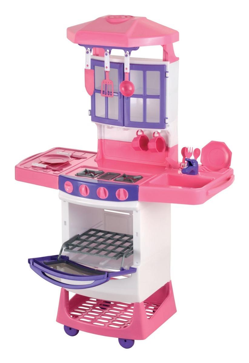 Cozinha Magica Infantil Completa Fog O Pia Armario Rosa R 224 40
