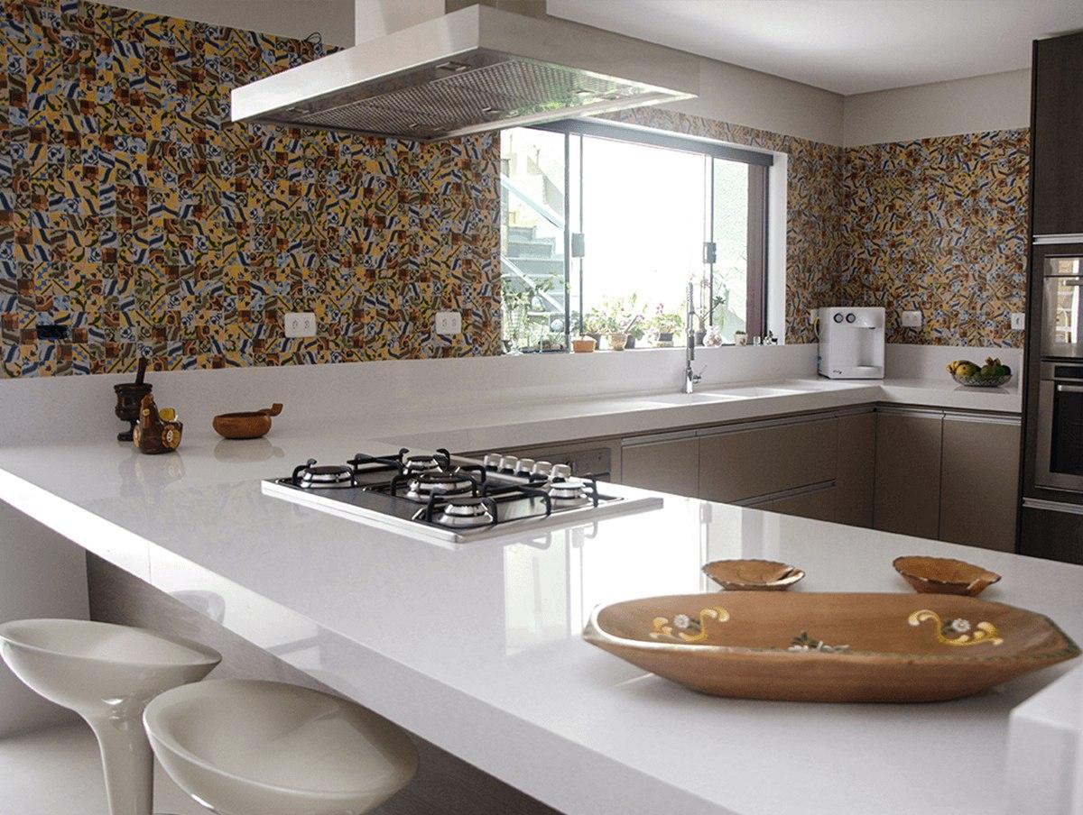 Cozinha Com Mesa De Marmore Resimden Com