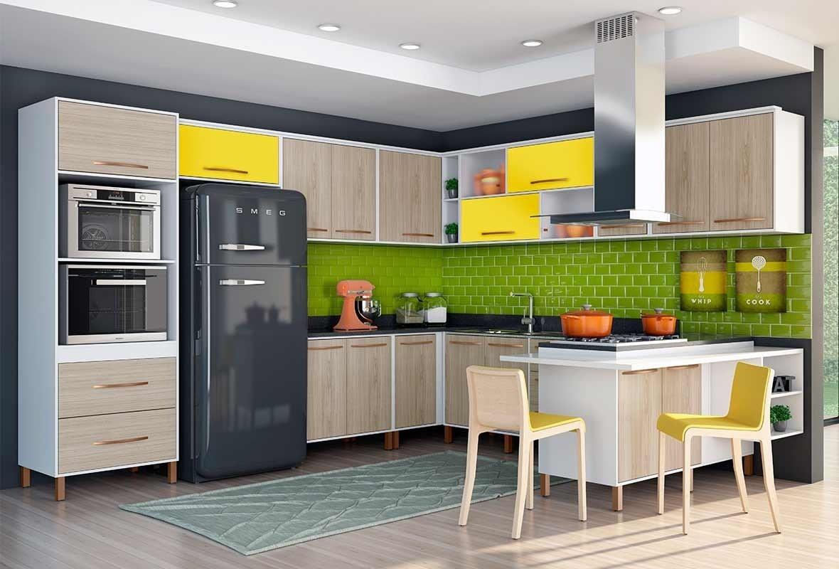 Cozinha Modulada Alecrim Completa M Veis Albatroz R 2 590 00 Em  ~ Armarios De Cozinha Modulado
