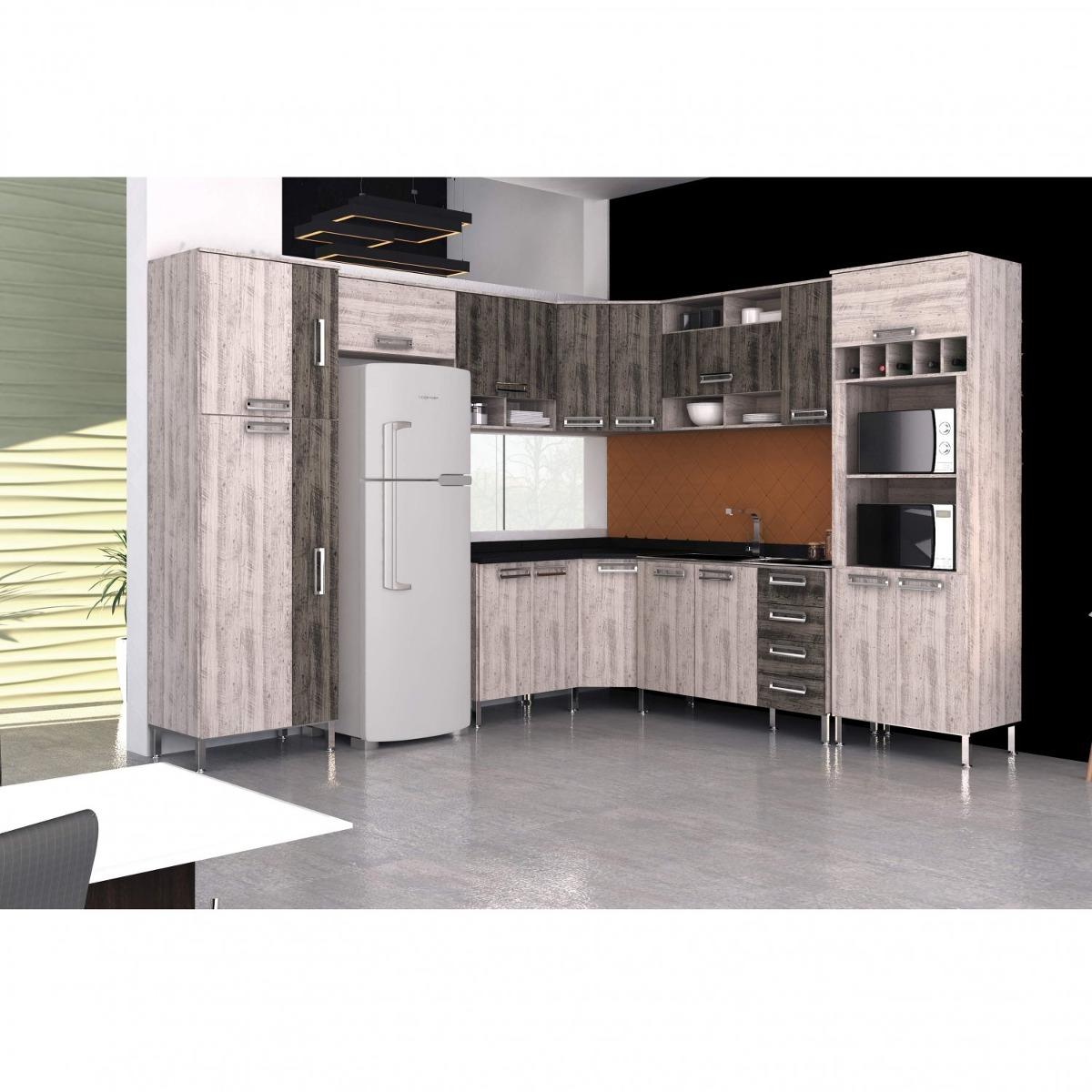 Cozinha Modulada Compacta 9 Pe As Leticia Saara Rust Ie R 2 299
