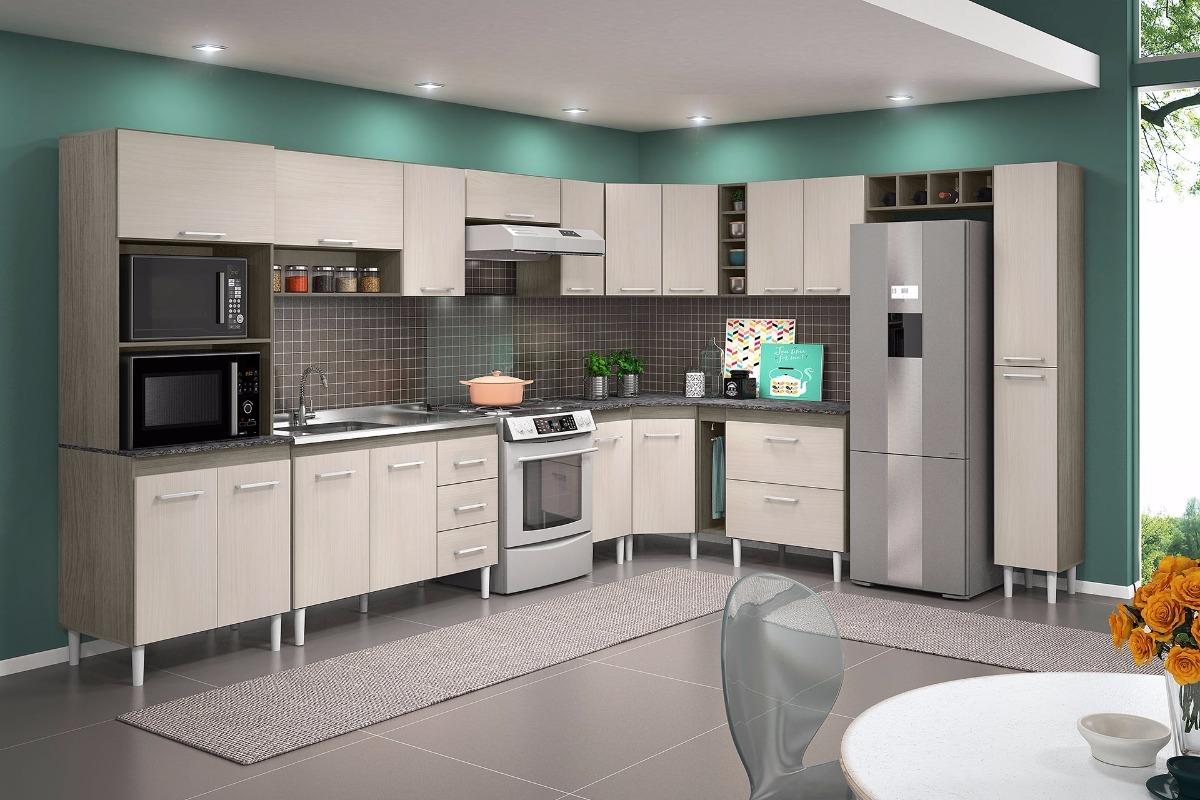 Cozinha Modulada Compacta De Canto Malbec Avel R 2 399 90 Em