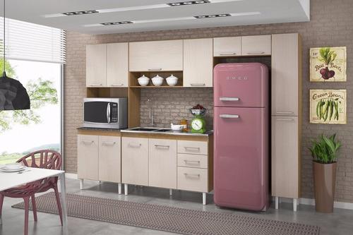 cozinha modulada paneleiro balcão armário karen - peternella