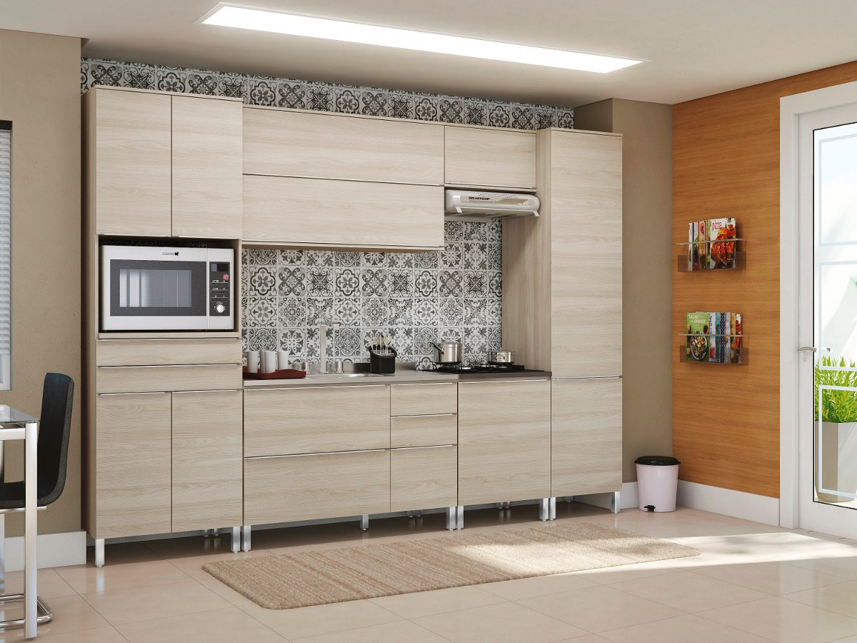 Cozinha Paneleiro Balc u00e3o Armário Basculante 6 Pçs Kappesberg R$ 2 455,00 em Mercado Livre