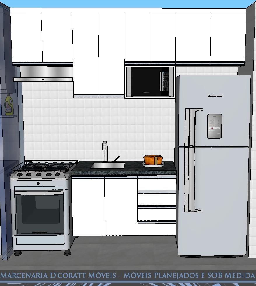 Armario De Cozinha Sob Medida : Cozinha pequena planejada arm?rio de sob medida