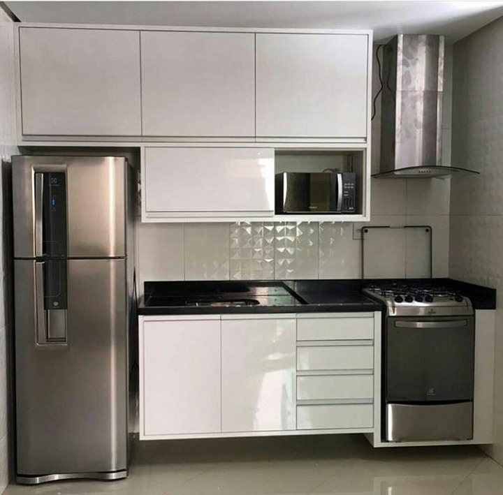 Cozinha planejada 100 mdf r em mercado livre - Armarios para casas pequenas ...