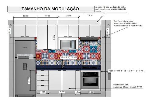 cozinha planejada 100%mdf fino acabamento e fundo reforçado