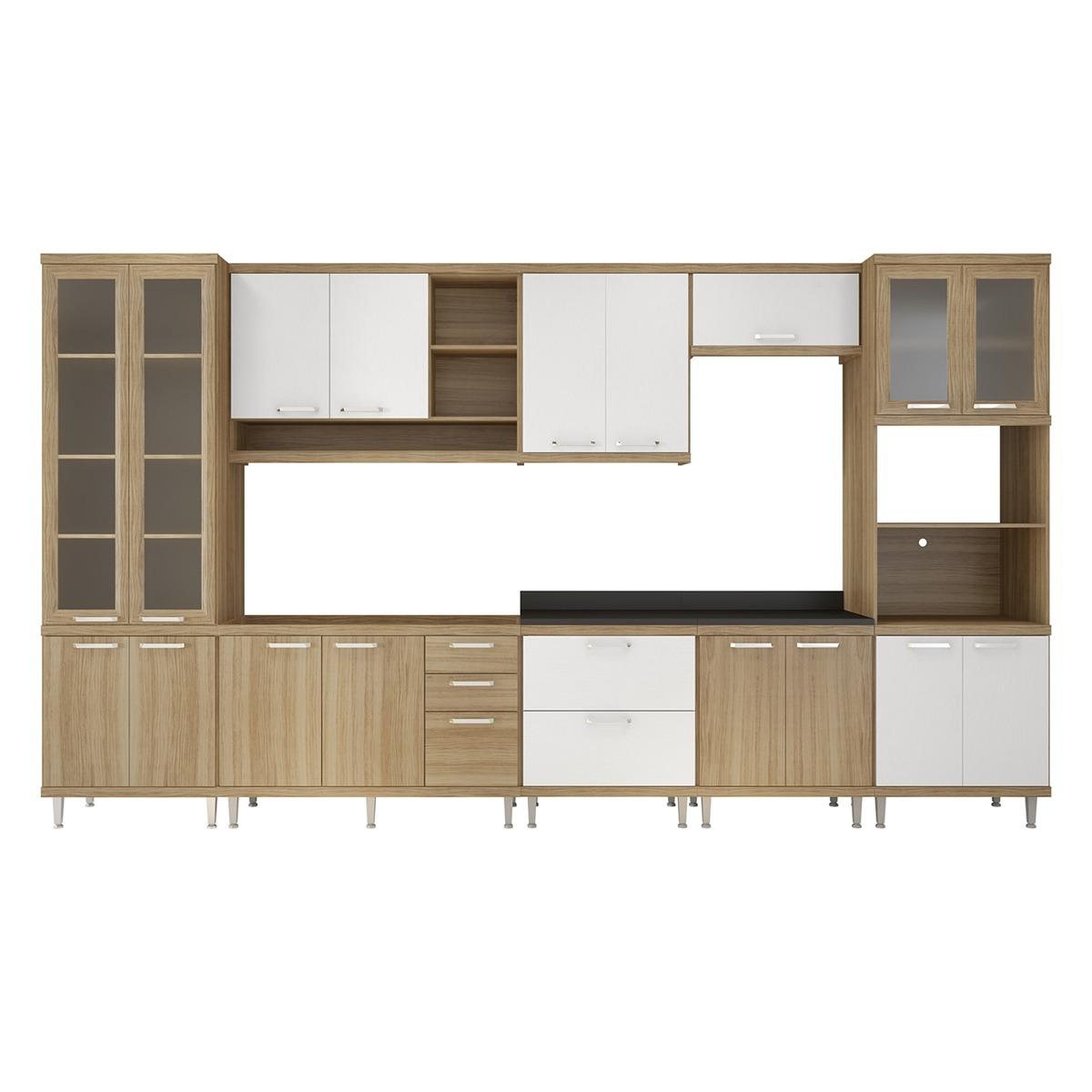 Cozinha Sic Lia 8pe As Argila Acetinada E Branco Multimoveis R