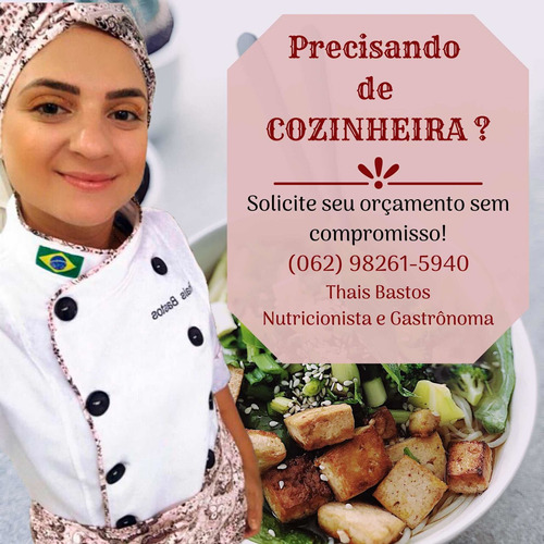 cozinheira para o seu evento!