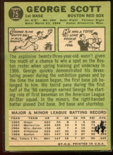 cp1 george scott topps 1967 nº 75