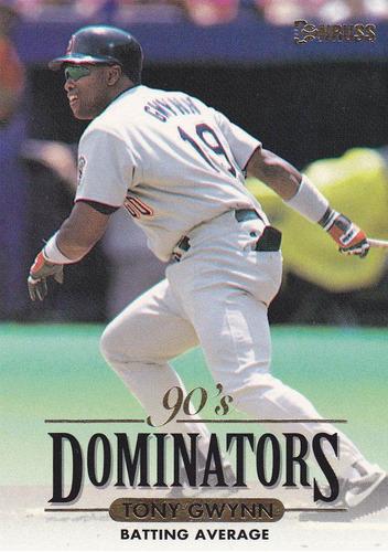 cp1 tony gwynn donruss 90´s dominators 1994 nº 1 hof