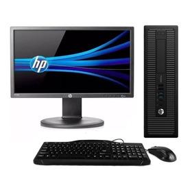 Cpu + Monitor Hp Prodesk Core I5 4gb 500gb 20 Pol - Promoção
