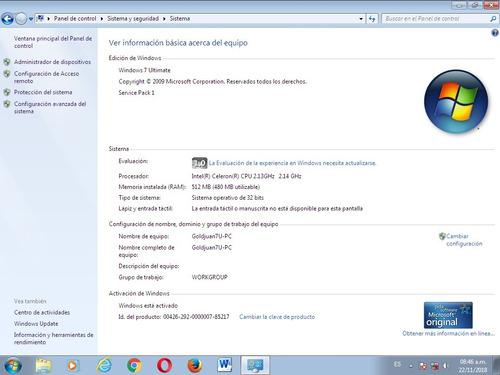 cpu 80 gb disco duro pentium 4 windows 7
