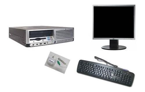 cpu completa  2gb hd 80gb + monitor 15''wifi  dvd