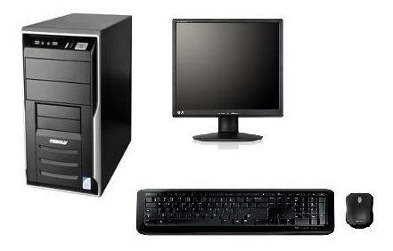 cpu completa core 2 duo 4gb hd 80gb wifi + monitor lcd 17