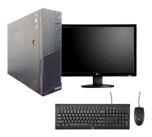 cpu completa i3 lenovo 3.3ghz 8gb ddr3 500gb monitor 19'
