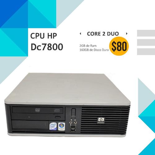 cpu computadora económica hp dc7800 core 2 duo - 2gb - 160gb