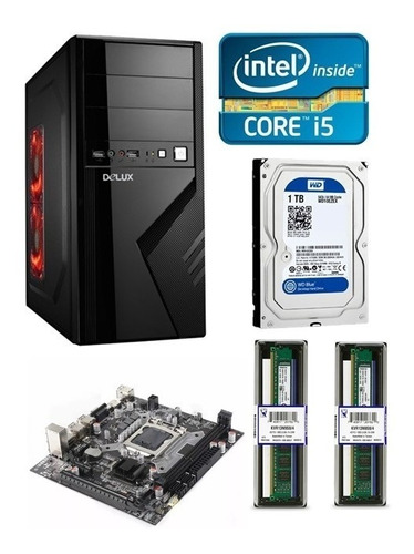 cpu computadora intel core i5 8gb de ram 1tb disco duro