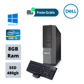Cpu Core I3-4130 3,40ghz 8gb Ssd 480gb Win10 Pró Wi-fi Nova!