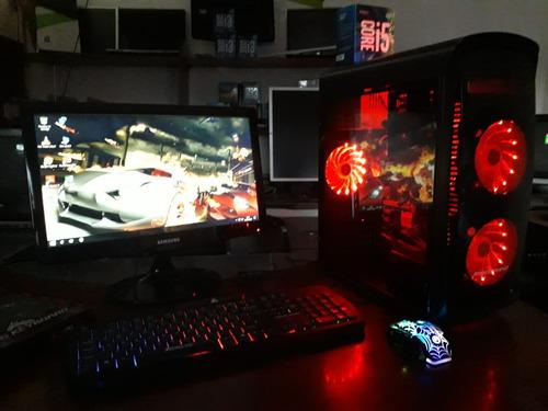 cpu corei5 2da 8gb 500hd case gamer es opcional asus gt 1030