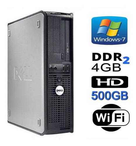 cpu dell mini optiplex dual 4gb hd ssd120gb dvd wifi