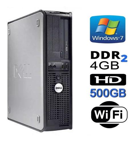 cpu dell optiplex 780 core 2 duo 4gb hd 500