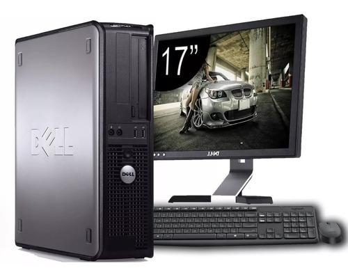 cpu dell optiplex + monitor dell 17 + teclado e mouse
