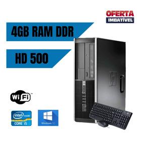 Cpu Desktop Hp 6200 I5 4gb Ram Hd 500 Win10 Brinde. Frete