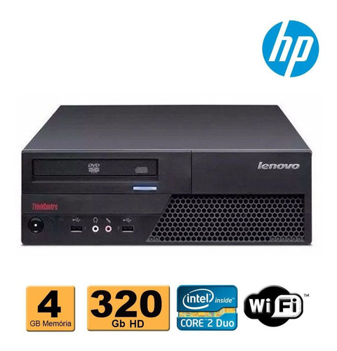 cpu desktop lenovo c2d e8400 4gb ddr3 hd 320gb dvd wifi