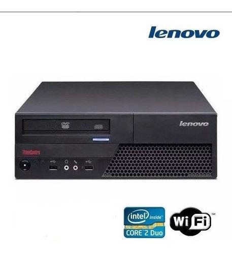 cpu desktop lenovo core 2 duo 2gb ddr3 hd 160gb dvd wifi