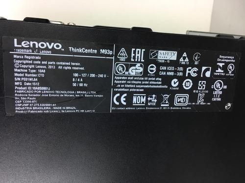 cpu desktop lenovo m93p i5 4ª ger. 8gb ram sem hd + garantia