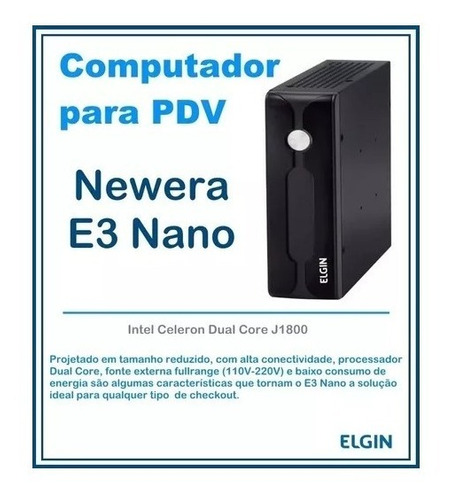 cpu elgin newera e3 nano j1800, 2,41ghz 500gb, 4gb hd