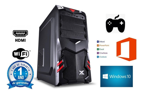 cpu gamer 8gb  ssd 480gb placa de video 2gb 128bits ddr5  wifi nova