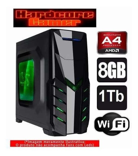 cpu gamer amd a4 6300/ 1tb/ 8gb/ hd 8470d/gtx 1050