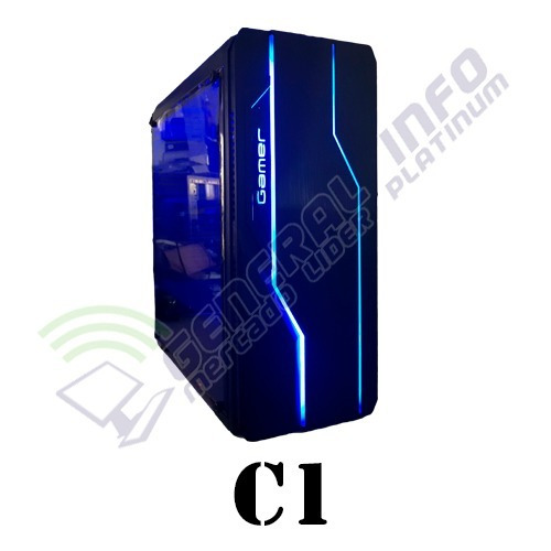 cpu gamer asus/ core i5 7400/ 16gb ddr4/ 1tb/ led/gtx 1050ti