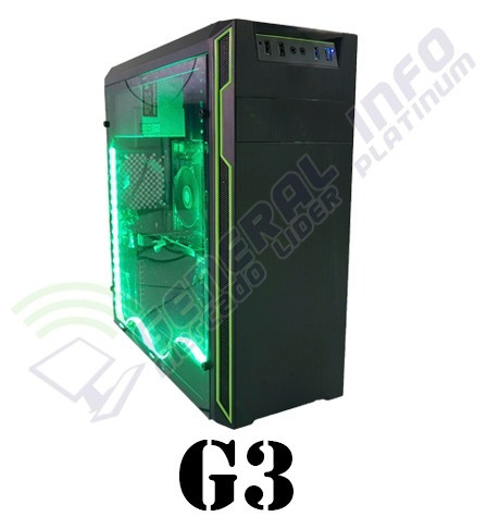 cpu gamer asus/ core i5 7400/ 8gb ddr4/ 1tb/ led/ hd630 2gb