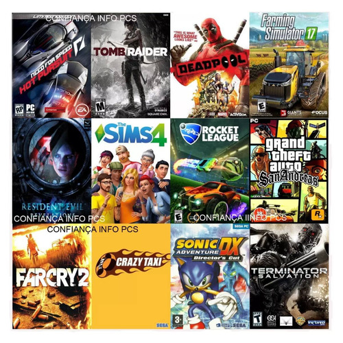cpu gamer barata com 70 jogos 3.7 ghz 8gb 1tb gta v lol