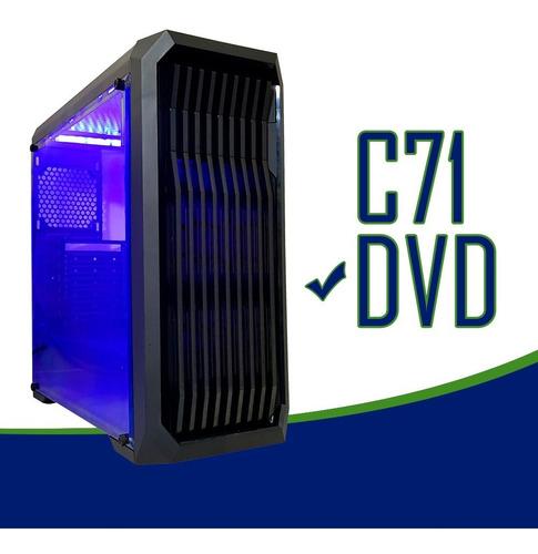 cpu gamer /core i5/ 8gb/ 1tb/ gtx1050 4gb ti/ wifi/ led/ gab