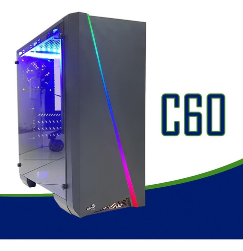 cpu gamer /core i5/ 8gb/ 1tb/ gtx1650 4gb / wifi/ led gab.