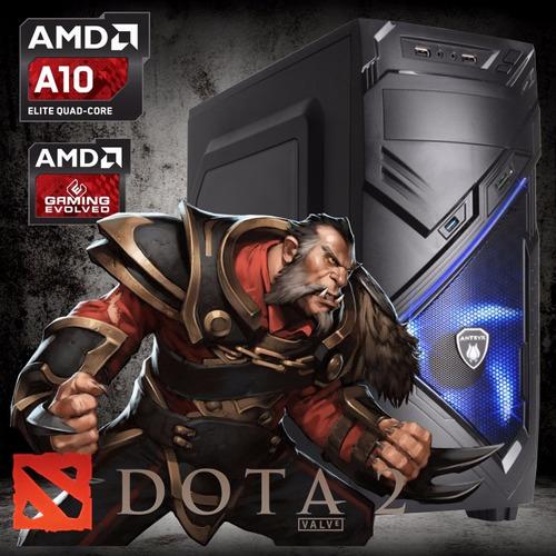 cpu gamer dota2 amd a10 a88xm ram 8gb disco 1tb video r7 2gb