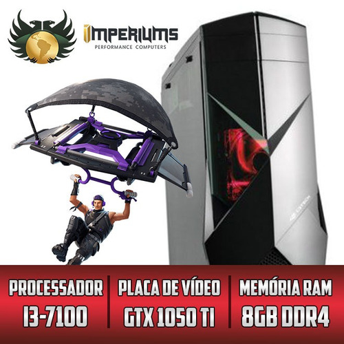 cpu gamer imperiums i3 7100 hd 1tb 1050ti +30 jogos rtw g2